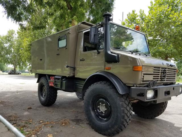 upgraded 1988 mercedes unimog u1300l ambulance camper military sbu in magpul fde for sale. Black Bedroom Furniture Sets. Home Design Ideas