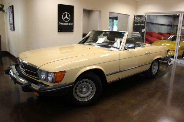 used 1983 mercedes-benz 380 380sl manila beige convertible v8 3.8l a