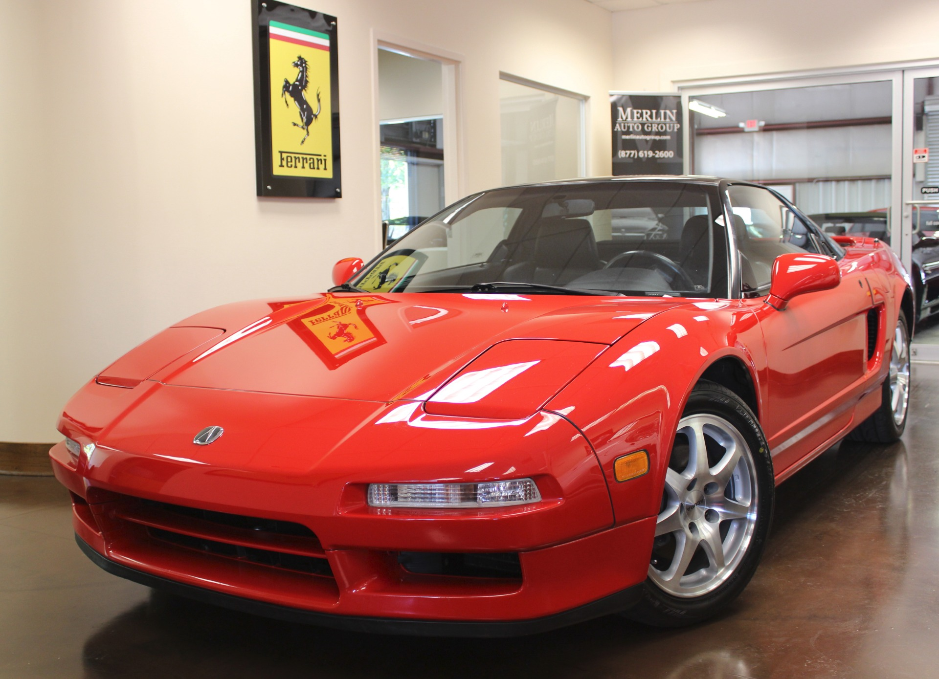 Used 1992 acura nsx red coupe v6 3l manual leather all original