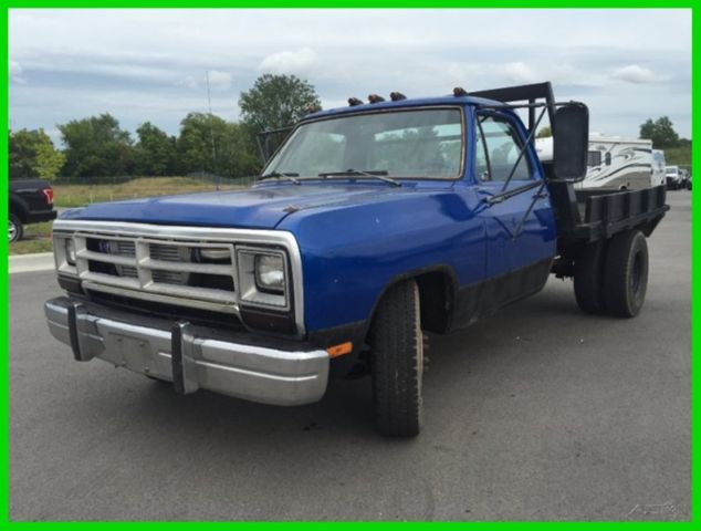 Pay Indiana Sales Tax >> Used 89 Dodge D350 Flatbed Pickup Work Diesel Truck 5 Speed Manual Blue Cheap for sale: photos ...