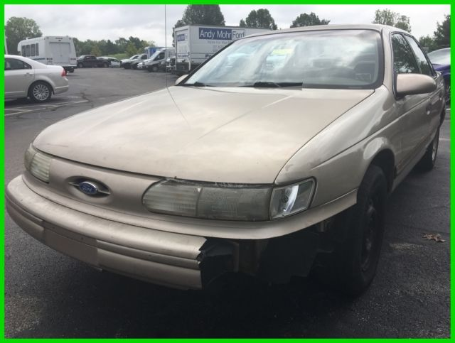 used 93 ford taurus gl 3l v6 auto fwd sedan tan cloth no. Black Bedroom Furniture Sets. Home Design Ideas