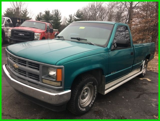 used 94 chevrolet silverado c k 1500 4 3l v6 auto rwd pickup work truck teal for sale photos. Black Bedroom Furniture Sets. Home Design Ideas