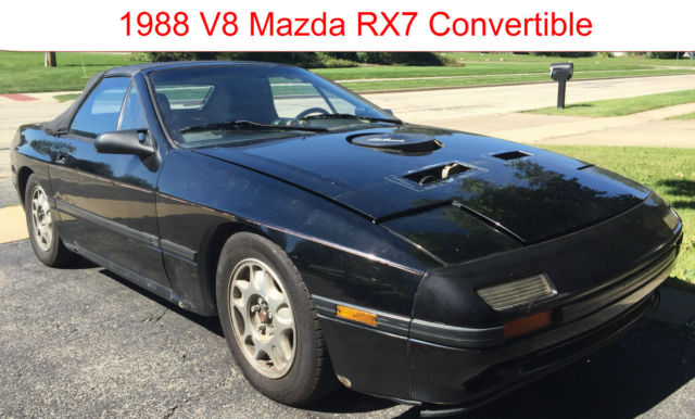 v8 fc mazda rx7 convertible auto sbc 305 runs drives needs finishing titled for sale photos. Black Bedroom Furniture Sets. Home Design Ideas