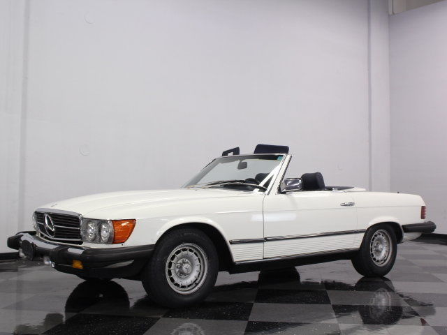 VERY CLEAN 380SL, ONLY 84K ORIGINAL MILES, LOTS OF SERVICE HISTORY, BOTH TOPS!