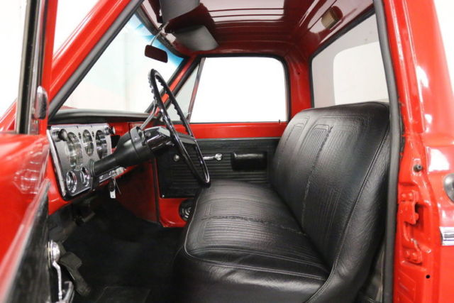 1969 Red Chevrolet C-10 Pickup (Truck) with Black interior