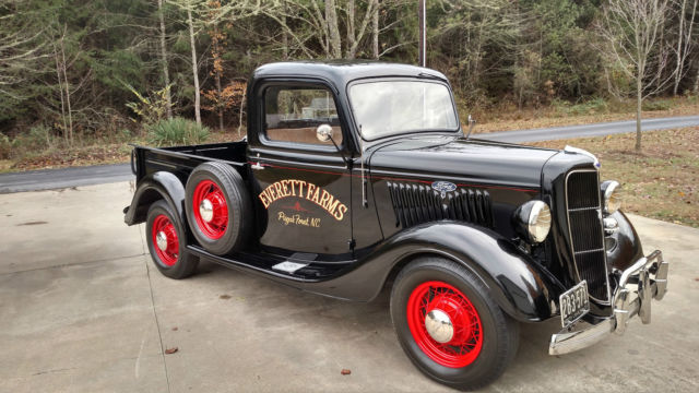 very nice 1935 ford pickup for sale photos technical specifications description. Black Bedroom Furniture Sets. Home Design Ideas