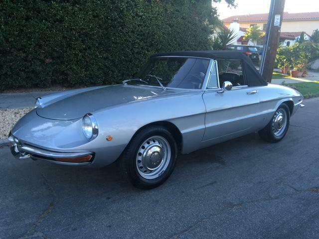 1969 Silver Alfa Romeo Spider Other Convertible with Black interior