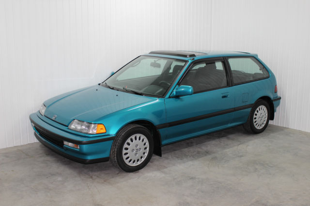 very rare untouched low mileage tahitian green 91 civic si. Black Bedroom Furniture Sets. Home Design Ideas