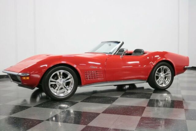 1970 Red Chevrolet Corvette 496 Restomod Convertible with Black interior
