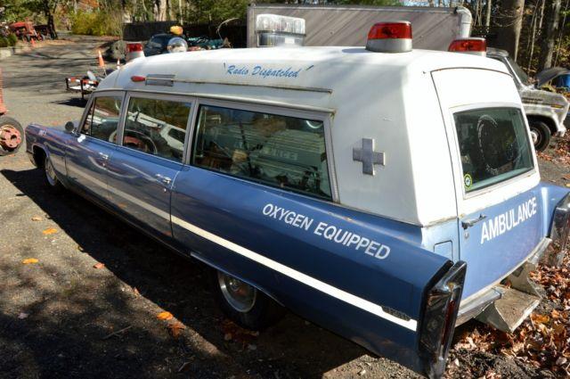 Vintage 1966 Cadillac Miller Meteor Ambulance---Rare antique for