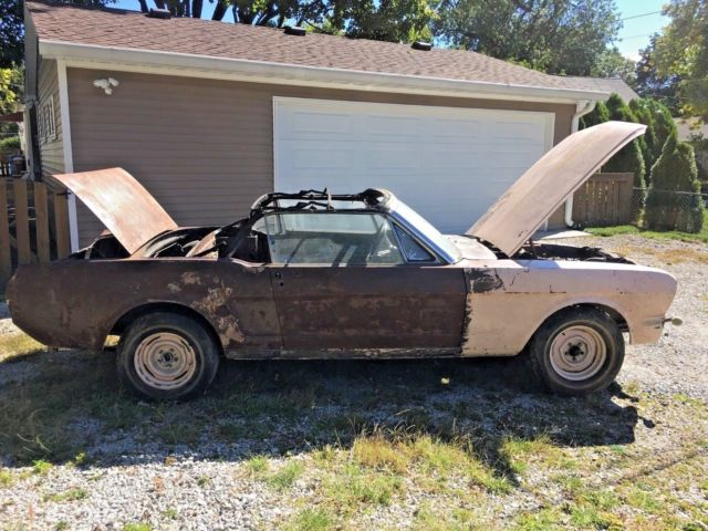 66 Mustang Parts >> Vintage 1966 Ford Mustang Convertible 289 C Code V8 Project