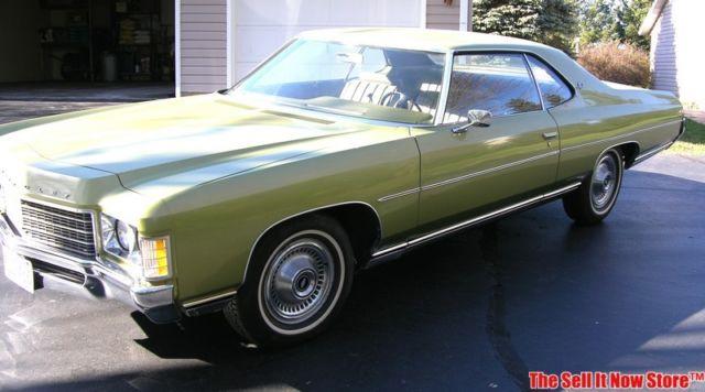 vintage 1971 71 chevrolet impala 2 door coupe 21 113 mile survivor usa classic for sale photos. Black Bedroom Furniture Sets. Home Design Ideas