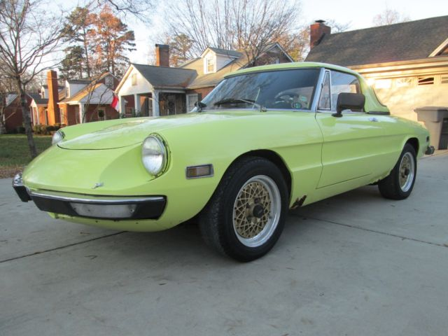 vintage 1972 usa alfa romeo spider kamm tail dual webers 2 liter runs drives for sale photos. Black Bedroom Furniture Sets. Home Design Ideas