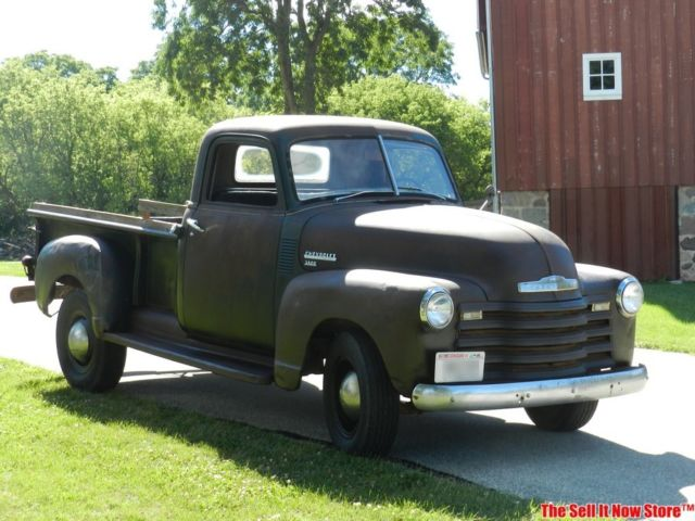 vintage barn farm find 1950 50 chevy chevrolet std bed 3600 pickup truck usa for sale photos. Black Bedroom Furniture Sets. Home Design Ideas