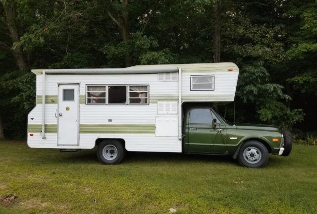 Vintage Original 1972 Chevy GMC Truck Camper Motorhome For Sale