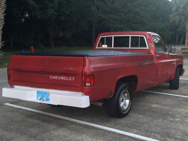 vintage square body chevy c10 longbed diesel half ton truck for sale photos technical. Black Bedroom Furniture Sets. Home Design Ideas
