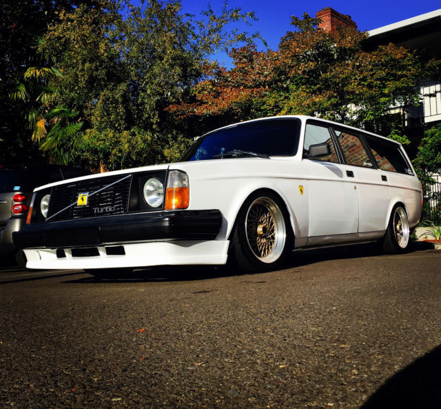 volvo 240 wagon 5spd turbo 300horsepwer slammed coilovers for sale photos technical. Black Bedroom Furniture Sets. Home Design Ideas