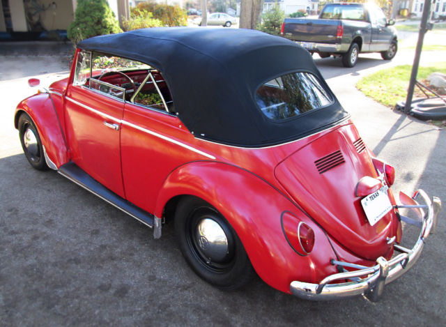 Vw Beetle Convertible Karmann Cabriolet Clic Vintage Volkswagen Bug Rare