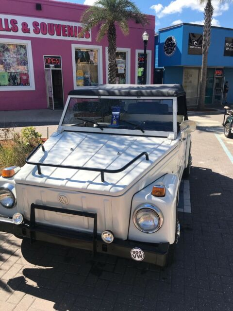 1974 White Volkswagen Thing Convertible with Black interior