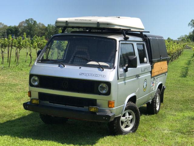 VW Vanagon Doka Syncro Van 1991 - 4x4 T3 for sale: photos, technical