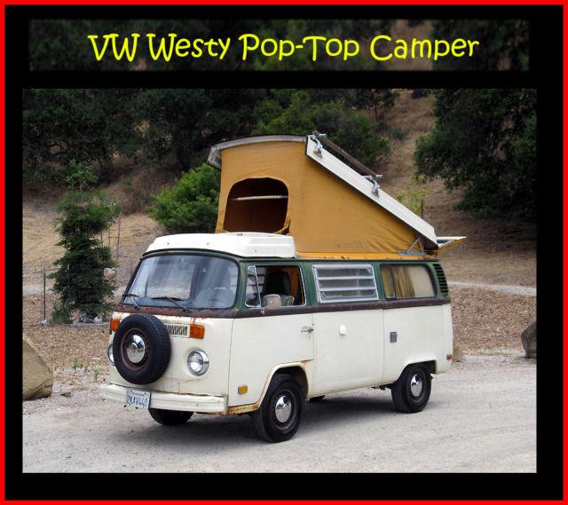 VW Westfalia, Westy, Poptop Campmobile, California Camper