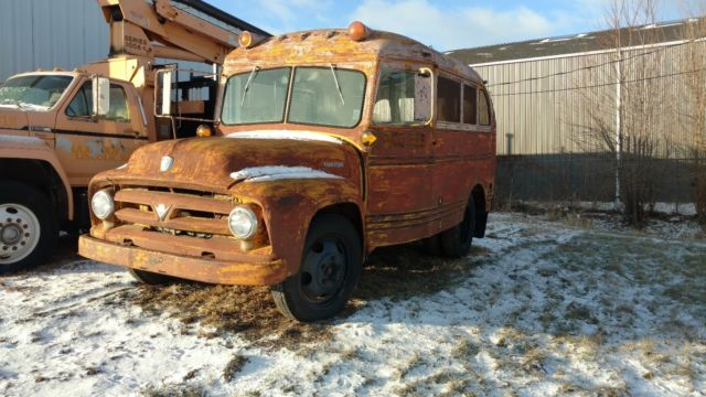 1953 Ford F500 SHORT BUS BASE