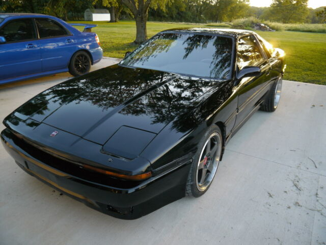 1987 Black Toyota Supra Coupe with Black interior