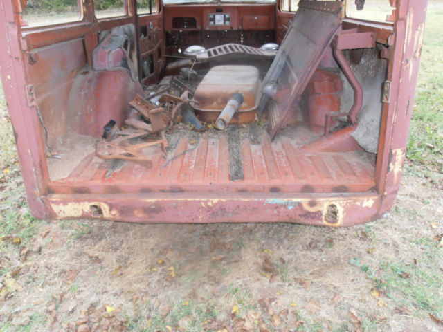 Willy Jeep Wagon For Parts Or Restoration Sitting On Chevy Luv Frame
