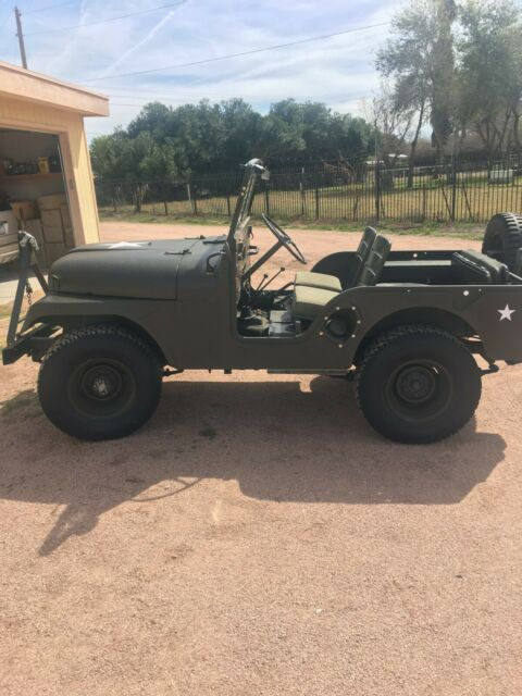 1958 Green Willys Model 38 Truck JEEP with Green interior