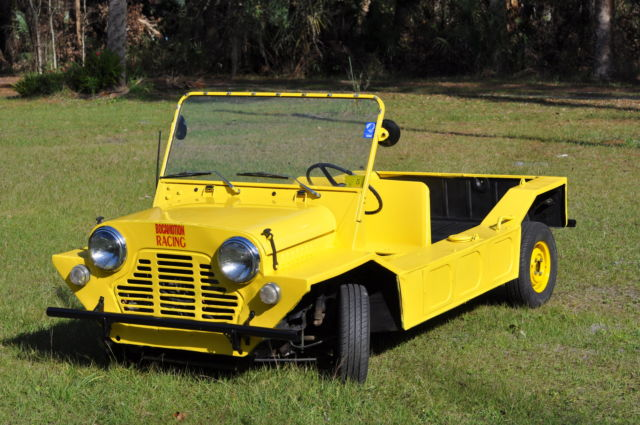yellow 1967 austin mini moke for sale photos technical specifications description. Black Bedroom Furniture Sets. Home Design Ideas
