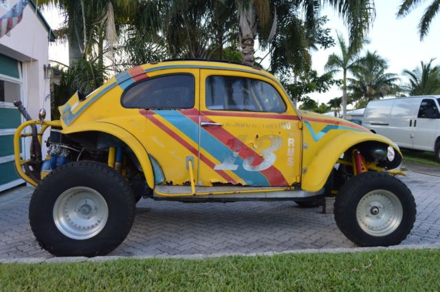 Yellow Volkswagen Competition Baja Bug Dune Buggy Was Street Legal