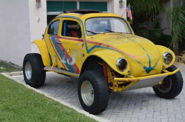 Yellow Volkswagen Competition Baja Bug Dune Buggy WAS STREET